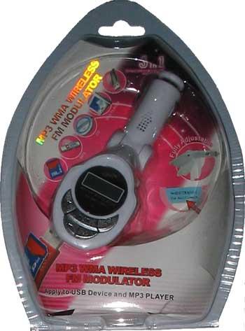 FM radiový vysílač s displejem + SD čtečka pro CL