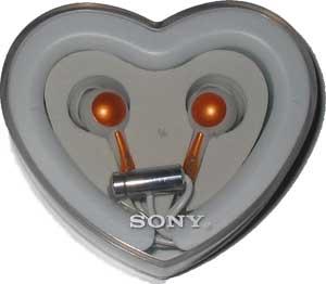 Sluchátka 3,5 mm Sony Fontopia bílo-oranžová