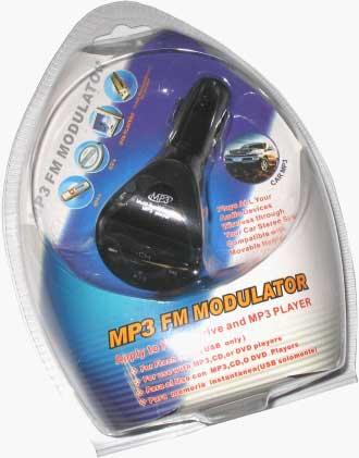 FM radiový vysílač s displejem čtečka SD + dálkové ovládání