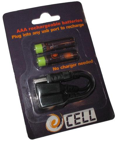 AAA baterie s nabíjením přes USB/miniUSB