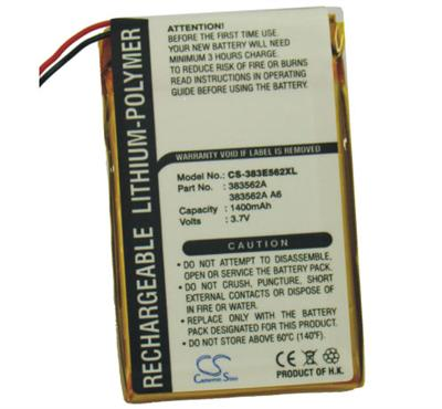 TE/TE2/T5/TX náhradní baterie - neoriginální 1400mAh