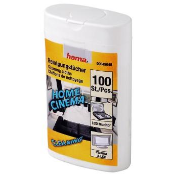 Čisticí utěrky pro LCD/Plazma/komunikátory/..., 100 ks, vlhké