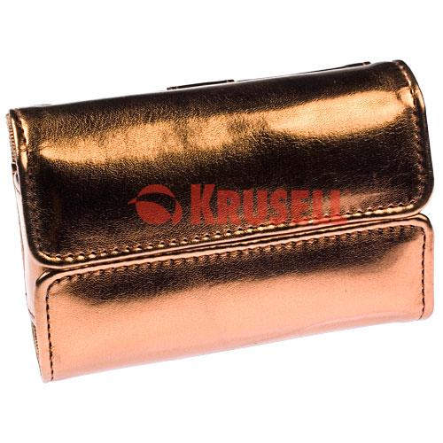 Kožené pouzdro dámské Krusell Excellence - zlaté