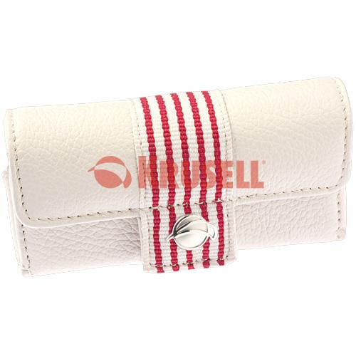 Kožené pouzdro Krusell Breeze - bílo-červené