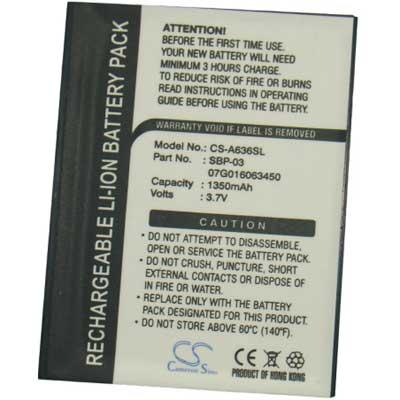 Asus MyPal A630, A632, A635, A636, A639 baterie 1350 mAh