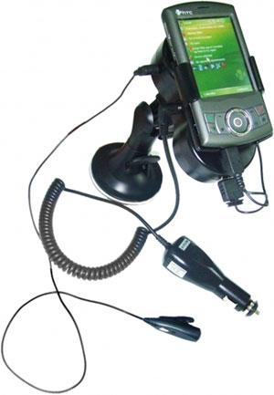 Autodržák aktivní + HF pro E-TEN/HTC/...