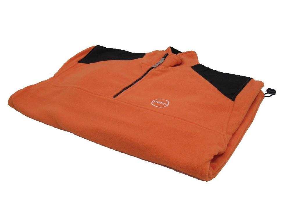 Mikina fleece oranžovo-černá XL
