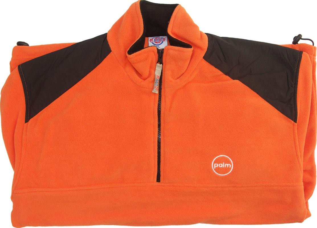 Mikina fleece oranžovo-černá L