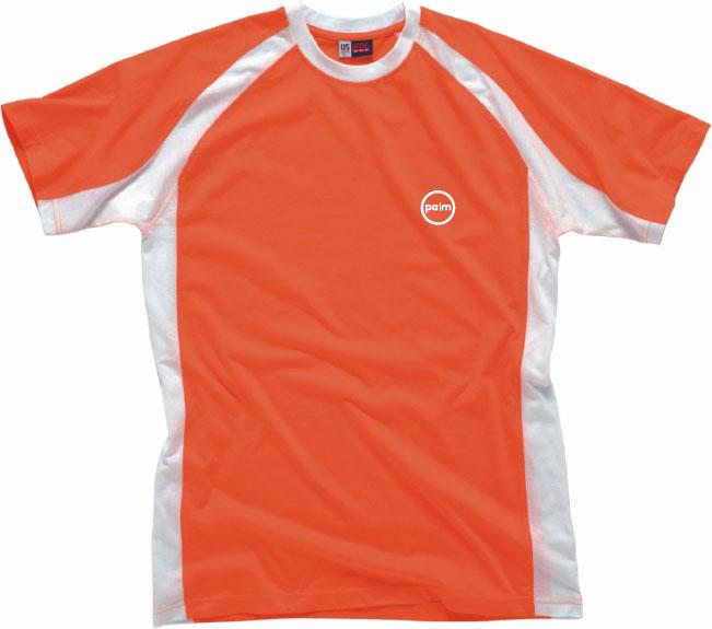 Triko oranžovo-bílé M