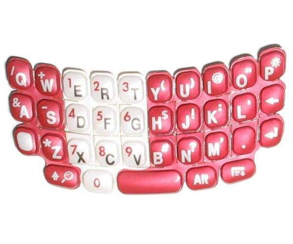 Náhradní klávesnice T680 červená QWERTY