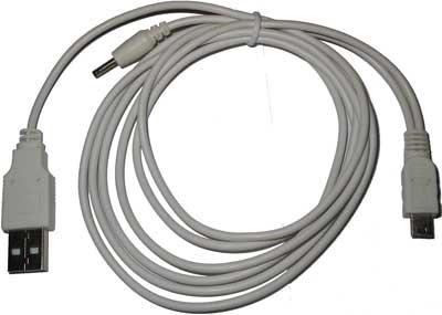 Synchronizační a nabíjecí kabel pro Palm TE/Zire/Z21/31/72/miniUSB bílý