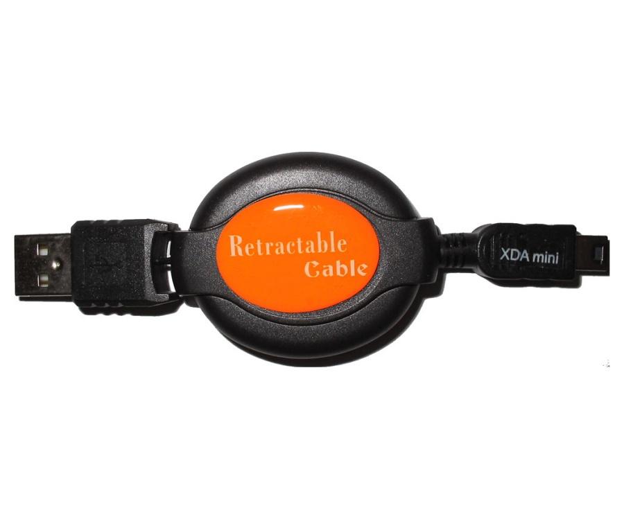 Navíjecí synchronizační a nabíjecí kabel - miniUSB