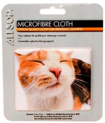 Mikrofibrilační tkanina s motivem kočky